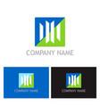 shape line business finance logo vector image vector image