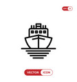 ship icon cruise symbol vector image vector image
