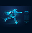 silhouette a running businessman vector image vector image