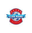 soccer logo vector image vector image