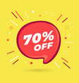 special offer sale red bubble 70 percent discount vector image vector image