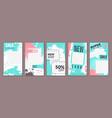 stories trendy design cover frame for social vector image