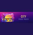 street food concept banner header vector image vector image