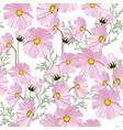 summer autumn pattern with pink flowers vector image