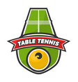 table tennis logo vector image vector image