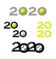tennis symbol new 2020 year vector image