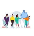 thumbs up sign likes and positive feedback vector image vector image