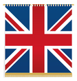 uk wall hanging vector image vector image