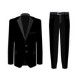 wedding black men s suit with tuxedo collection vector image vector image