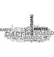 which dart board bristle vs electronic dart vector image vector image