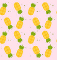 yellow pineapple pink pattern background im vector image vector image