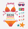 Summer Infographic Geometric Concept Design Colour vector image