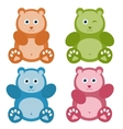 set of color Teddy bears vector image