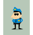 Cartoon plice officer vector image
