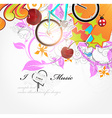 I Love Music Sketch Background vector image