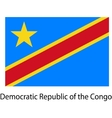 Flag of the country democratic republic congo vector image