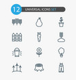 gardening icons set collection of hang lamp wood vector image