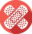 Adhesive Bandage Icon vector image vector image