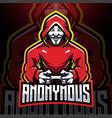 anonymous gamer esport mascot logo design