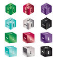 arrow cubes vector image vector image