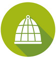 bird cage icon with a long shadow vector image