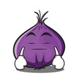 boring red onion character cartoon vector image vector image