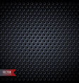 carbon metal background with holes vector image vector image