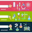 Chemistry design banners vector image vector image