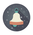 Christmas bell flat icon vector image vector image