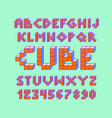 color pixel look retro video game font 80 s retro vector image vector image