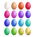 colored eggs happy easter symbols collection vector image