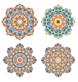 Colorful mandalas Traditional lace ornaments vector image vector image