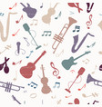 colorful music seamless pattern vector image vector image