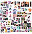contemprary art icons vector image vector image
