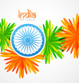 creative indian flag design vector image vector image