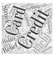 Credit Card Debt Relief Word Cloud Concept vector image vector image