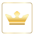 Croun gold icon royal white vector image