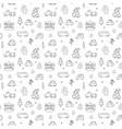 cute cars seamless pattern cartoon transportation vector image