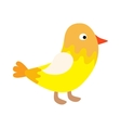 Cute happy little yellow bird easter chick with vector image vector image