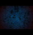 dark blue grunge brick wall background vector image