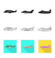 design travel and airways icon set of vector image vector image