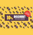 discount voucher vector image