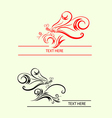 Dragonfly label decoration vector image vector image
