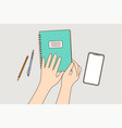 education study lesson learning business vector image