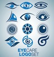 EYE CARE LOGO SET vector image