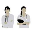 Female Doctor Silhouettes vector image vector image