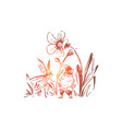 fictional magical creatures gnome and fairy vector image