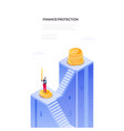finance protection - modern isometric web vector image vector image