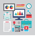 Flat Design - Business Icons - flat style vector image