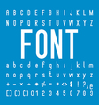 Font family and Alphabet Font Design vector image vector image